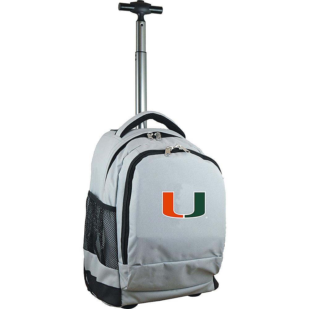 MOJO Denco College NCAA Premium Laptop Rolling Backpack Miami - MOJO Denco Rolling Backpacks - Backpacks, Rolling Backpacks