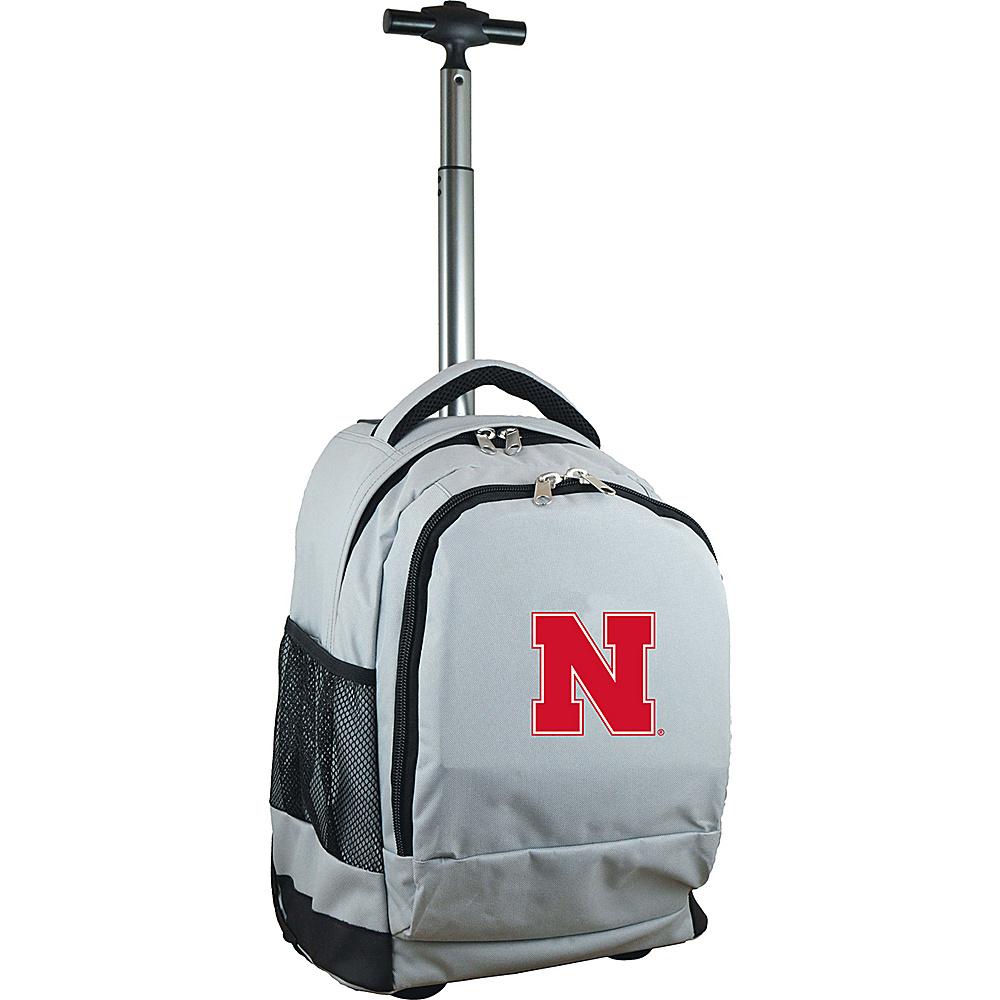 MOJO Denco College NCAA Premium Laptop Rolling Backpack Nebraska - MOJO Denco Rolling Backpacks - Backpacks, Rolling Backpacks