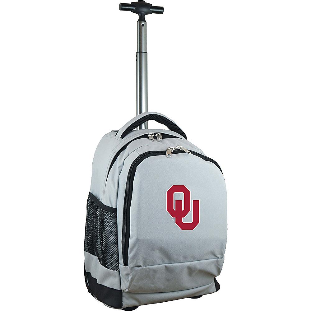 MOJO Denco College NCAA Premium Laptop Rolling Backpack Oklahoma - MOJO Denco Rolling Backpacks - Backpacks, Rolling Backpacks