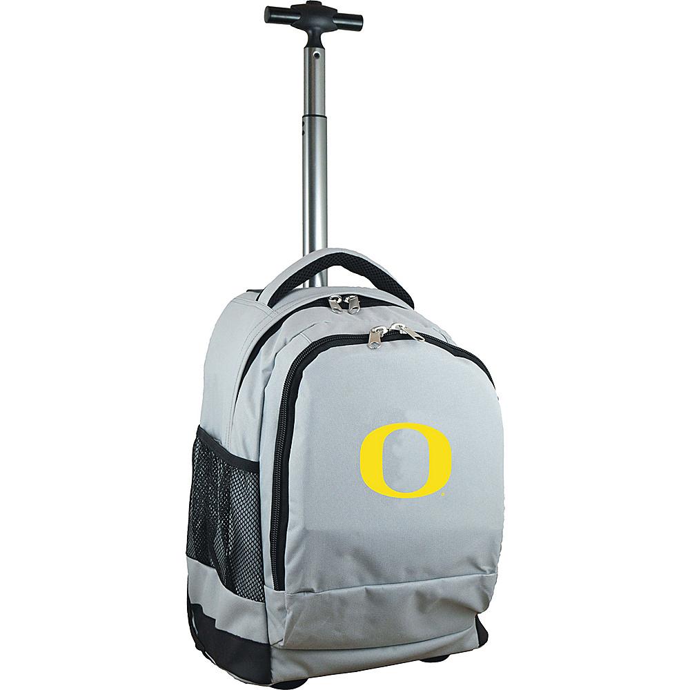 MOJO Denco College NCAA Premium Laptop Rolling Backpack Oregon - MOJO Denco Rolling Backpacks - Backpacks, Rolling Backpacks