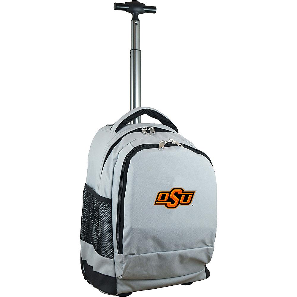 MOJO Denco College NCAA Premium Laptop Rolling Backpack Oklahoma State - MOJO Denco Rolling Backpacks - Backpacks, Rolling Backpacks