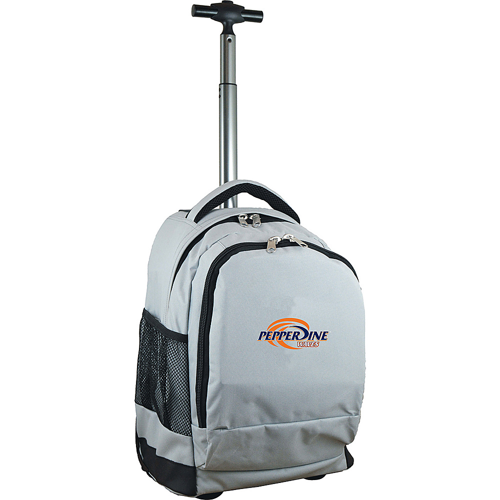 MOJO Denco College NCAA Premium Laptop Rolling Backpack Pepperdine - MOJO Denco Rolling Backpacks - Backpacks, Rolling Backpacks
