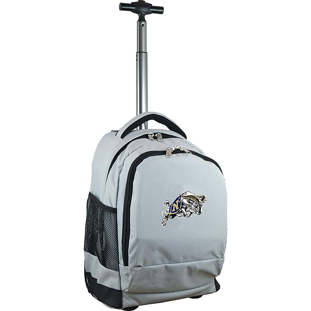 MOJO Denco College NCAA Premium Laptop Rolling Backpack US Naval Academy - MOJO Denco Rolling Backpacks - Backpacks, Rolling Backpacks