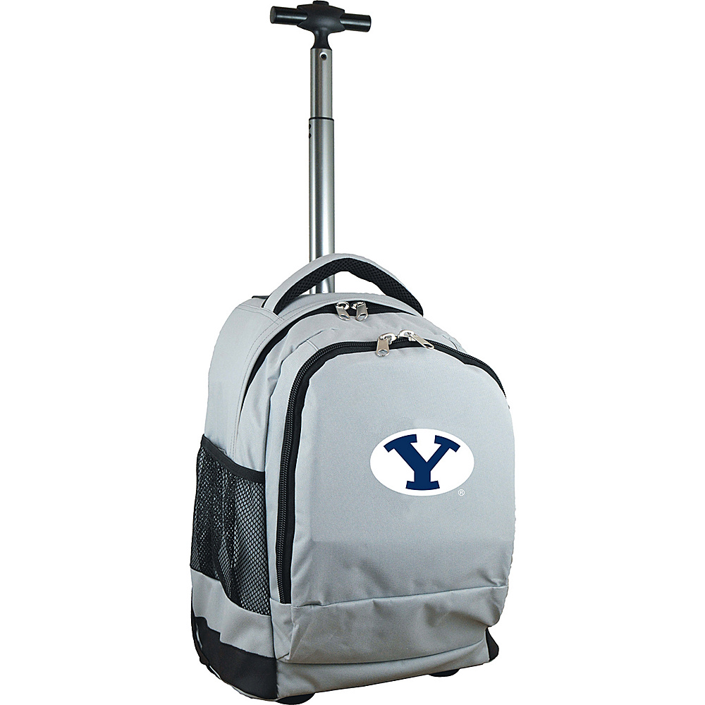 MOJO Denco College NCAA Premium Laptop Rolling Backpack Brigham Young (BYU) - MOJO Denco Rolling Backpacks - Backpacks, Rolling Backpacks