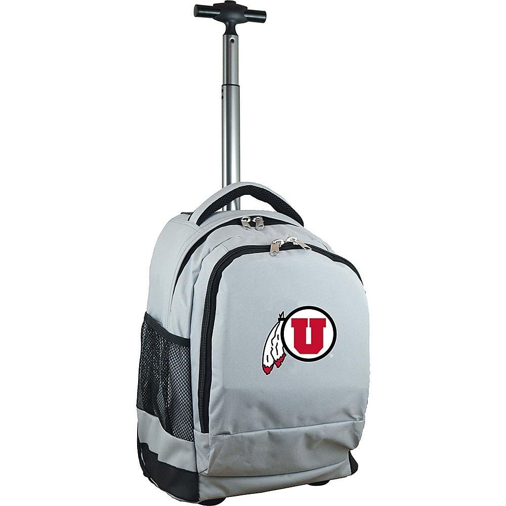 MOJO Denco College NCAA Premium Laptop Rolling Backpack Utah - MOJO Denco Rolling Backpacks - Backpacks, Rolling Backpacks