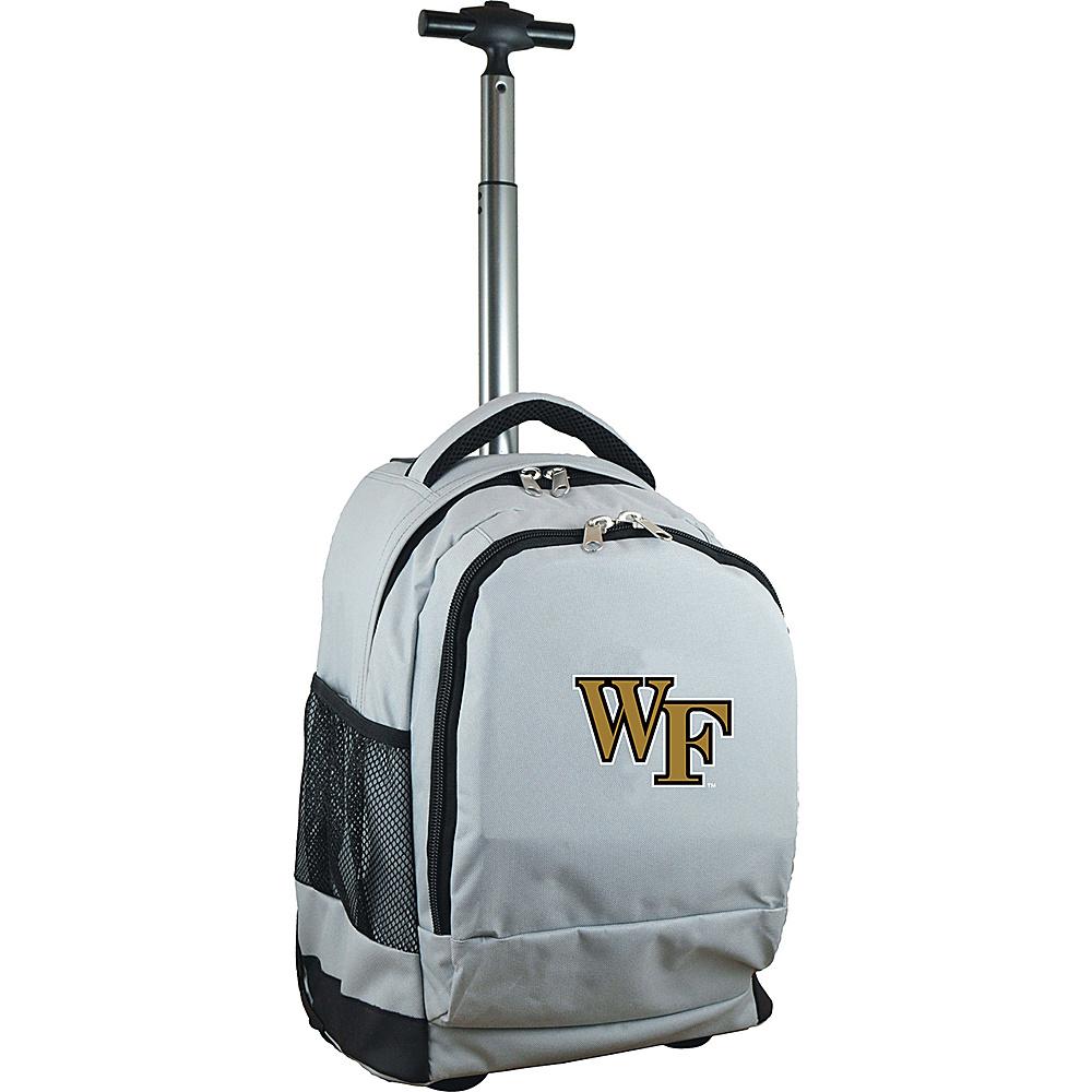 MOJO Denco College NCAA Premium Laptop Rolling Backpack Wake Forest - MOJO Denco Rolling Backpacks - Backpacks, Rolling Backpacks