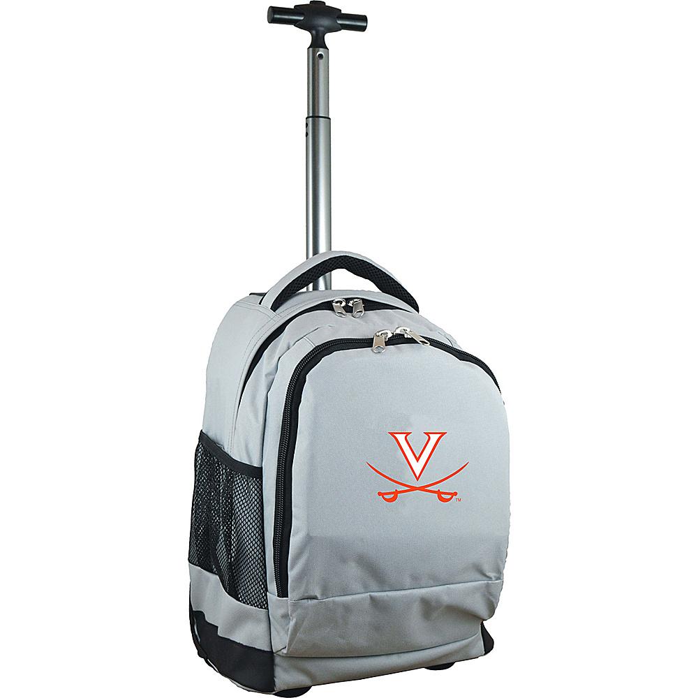 MOJO Denco College NCAA Premium Laptop Rolling Backpack Virginia - MOJO Denco Rolling Backpacks - Backpacks, Rolling Backpacks