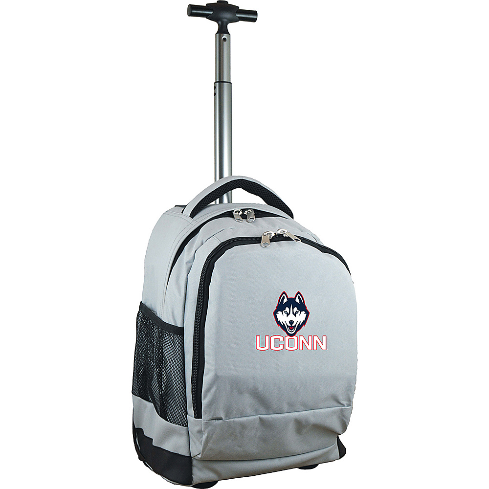 MOJO Denco College NCAA Premium Laptop Rolling Backpack Connecticut - MOJO Denco Rolling Backpacks - Backpacks, Rolling Backpacks