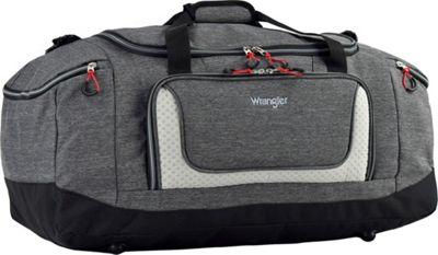 Wrangler 20 inch Multi-Pocket Duffel Heather Gray - Wrangler Travel Duffels