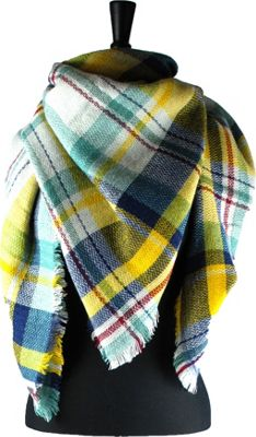 Woolrich Accessories Blanket Wrap Square Scarf Winter Blue - Woolrich Accessories Scarves