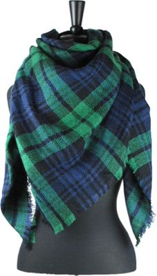 Woolrich Accessories Blanket Wrap Square Scarf Wintergreen - Woolrich Accessories Scarves