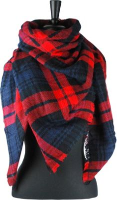 Woolrich Accessories Blanket Wrap Square Scarf Old Red - Woolrich Accessories Scarves