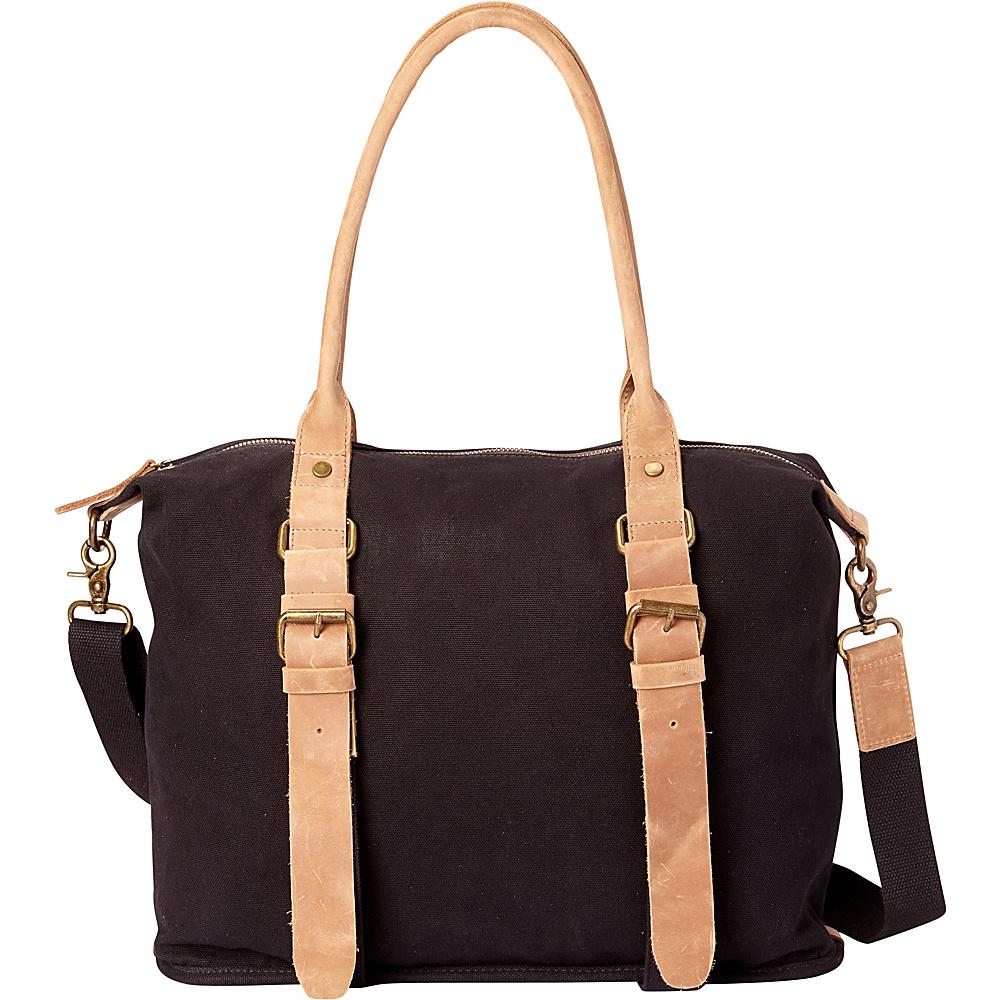 Vagabond Traveler Classic Canvas Shoulder Messenger Bag Black - Vagabond Traveler Fabric Handbags - Handbags, Fabric Handbags