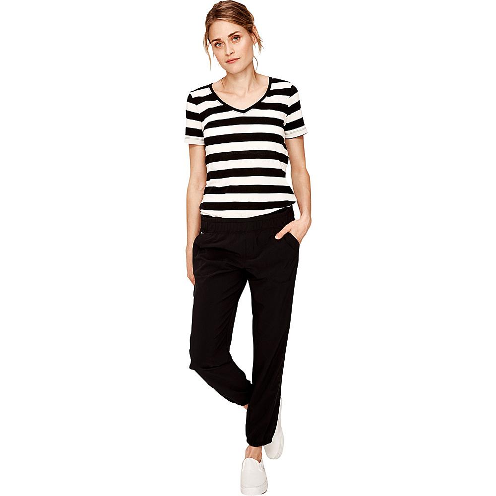 Lole Dale Top XS - Black and White Stripe - Lole Womens Apparel - Apparel & Footwear, Women's Apparel