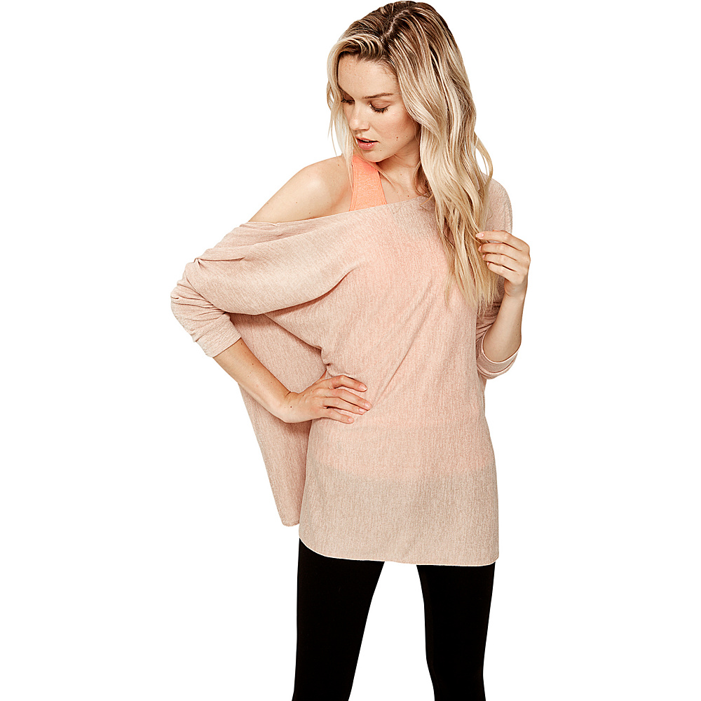 Lole Mel Top L - Pink Sand Heather - Lole Womens Apparel - Apparel & Footwear, Women's Apparel