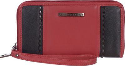 Club Rochelier Zip Around Wristlet and Cellphone Holder Red - Club Rochelier Women's Wallets