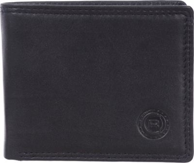 Club Rochelier Slimfold Wallet with Center Wing Black - Club Rochelier Men's Wallets