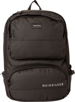 Quiksilver Wedge 23L Cooler Pocket Medium Laptop Backpack Black - Quiksilver Business & Laptop Backpacks