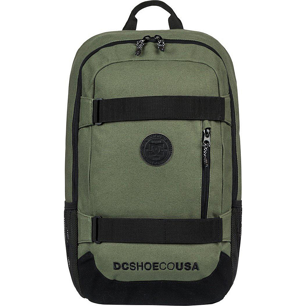 DC Shoes Men's Clocked Canvas 18L Medium Laptop Skatepack Vintage Green - DC Shoes Laptop Backpacks