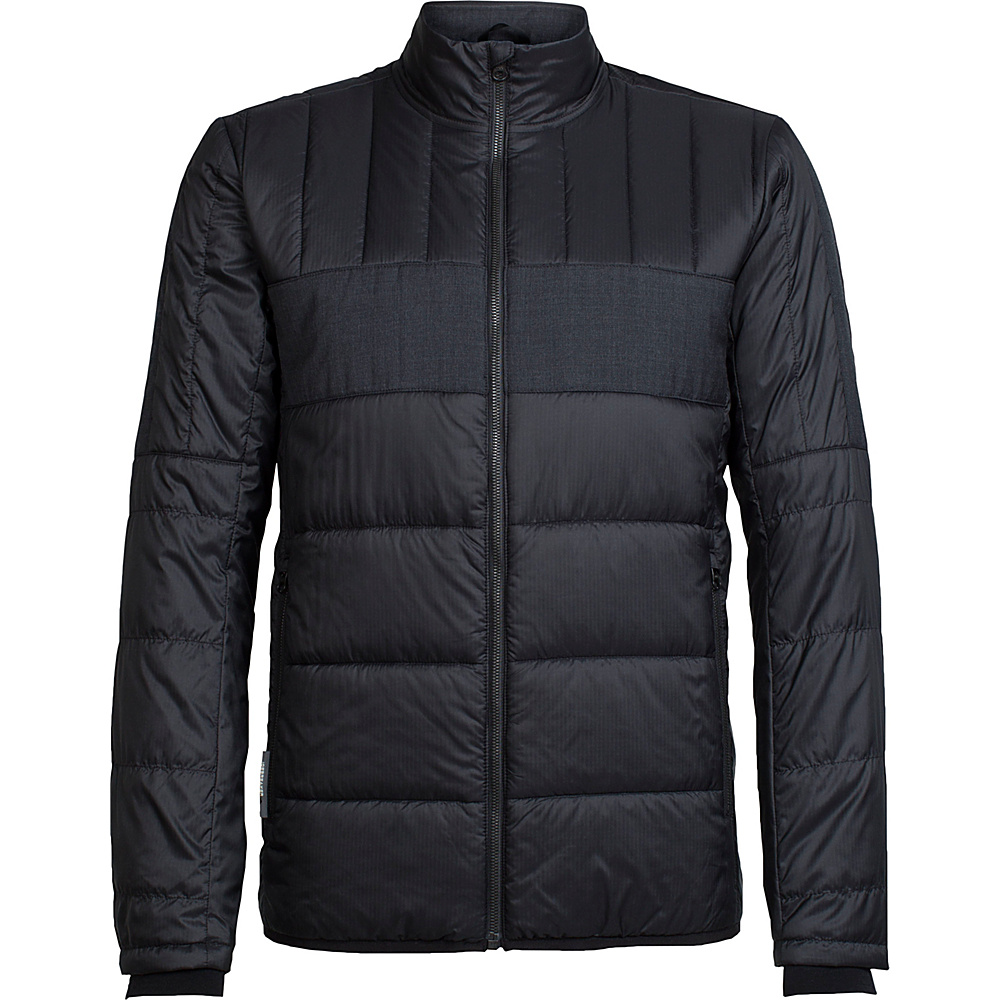 Icebreaker Mens Stratus X Jacket L - Black/Jet Heather - Icebreaker Mens Apparel - Apparel & Footwear, Men's Apparel