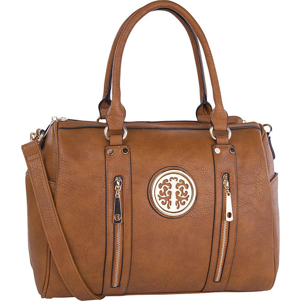 MKF Collection by Mia K. Farrow Blair Satchel Brown - MKF Collection by Mia K. Farrow Manmade Handbags - Handbags, Manmade Handbags
