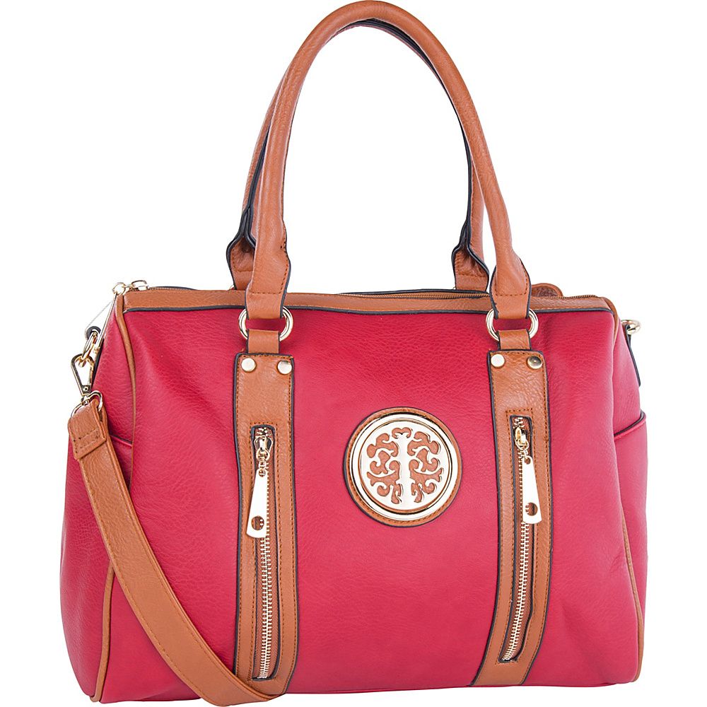MKF Collection by Mia K. Farrow Blair Satchel Red - MKF Collection by Mia K. Farrow Manmade Handbags - Handbags, Manmade Handbags