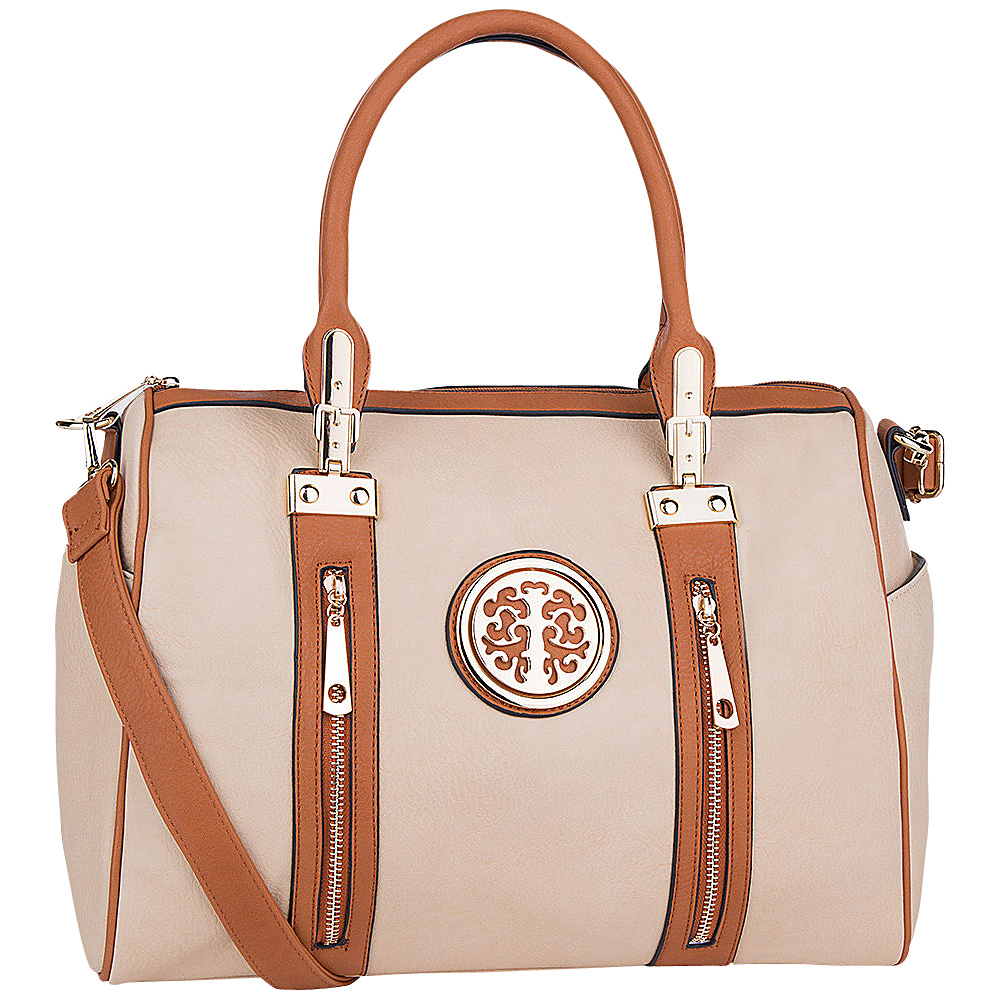 MKF Collection by Mia K. Farrow Blair Satchel Beige - MKF Collection by Mia K. Farrow Manmade Handbags - Handbags, Manmade Handbags