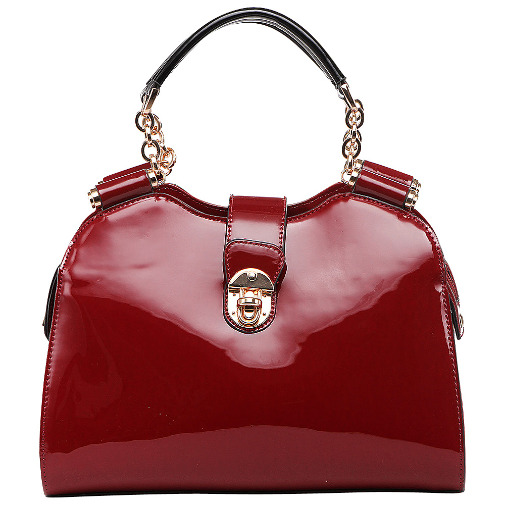 MKF Collection by Mia K. Farrow Amorous Lexi Shoulder Satchel Red - MKF Collection by Mia K. Farrow Manmade Handbags - Handbags, Manmade Handbags