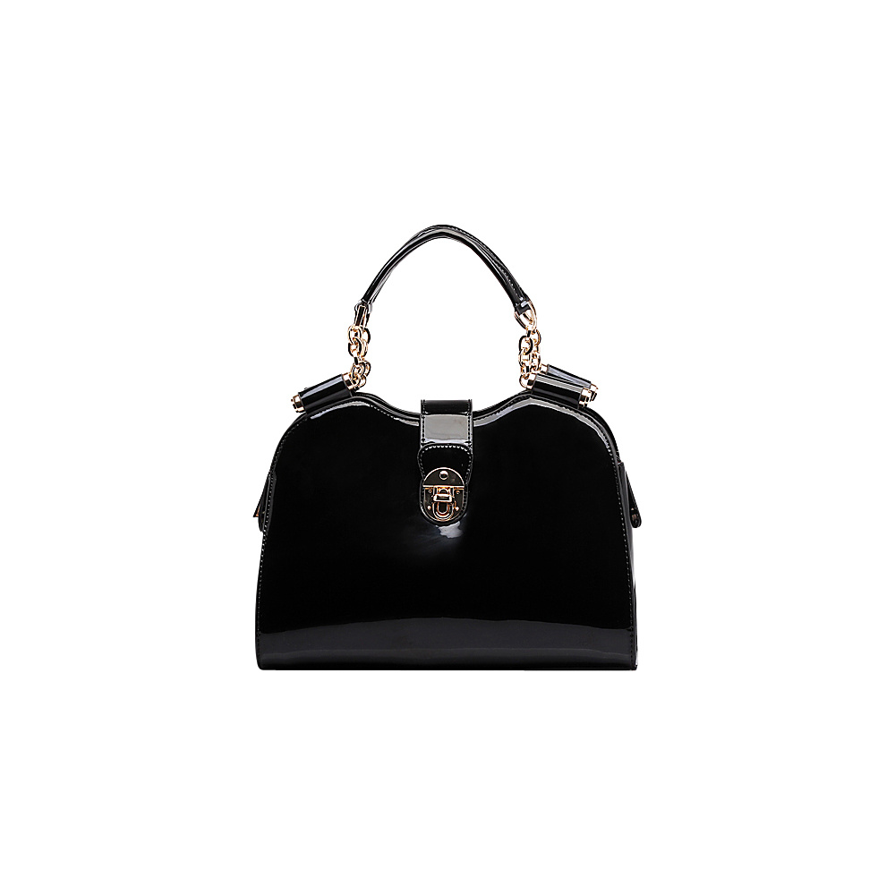 MKF Collection by Mia K. Farrow Amorous Lexi Shoulder Satchel Black - MKF Collection by Mia K. Farrow Manmade Handbags - Handbags, Manmade Handbags