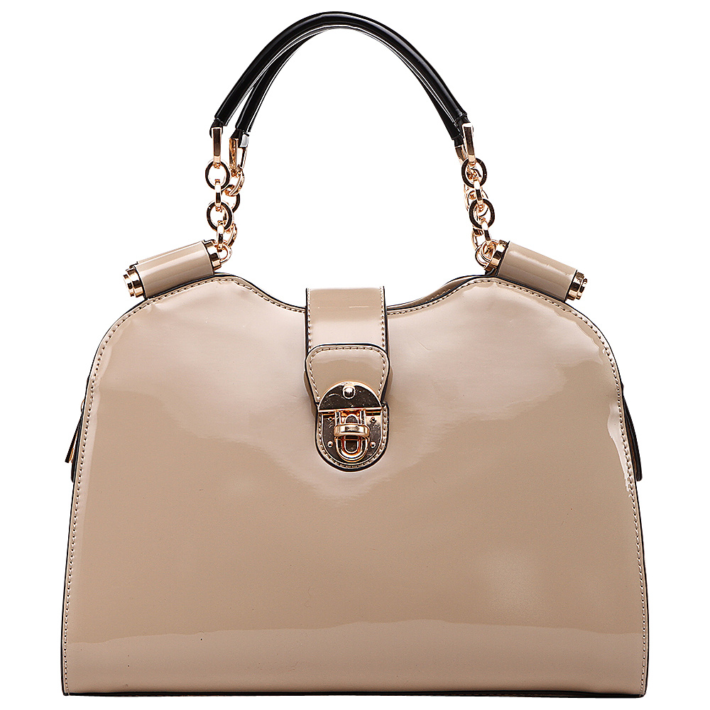 MKF Collection by Mia K. Farrow Amorous Lexi Shoulder Satchel Nude - MKF Collection by Mia K. Farrow Manmade Handbags - Handbags, Manmade Handbags