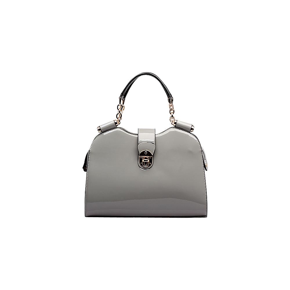 MKF Collection by Mia K. Farrow Amorous Lexi Shoulder Satchel Grey - MKF Collection by Mia K. Farrow Manmade Handbags - Handbags, Manmade Handbags