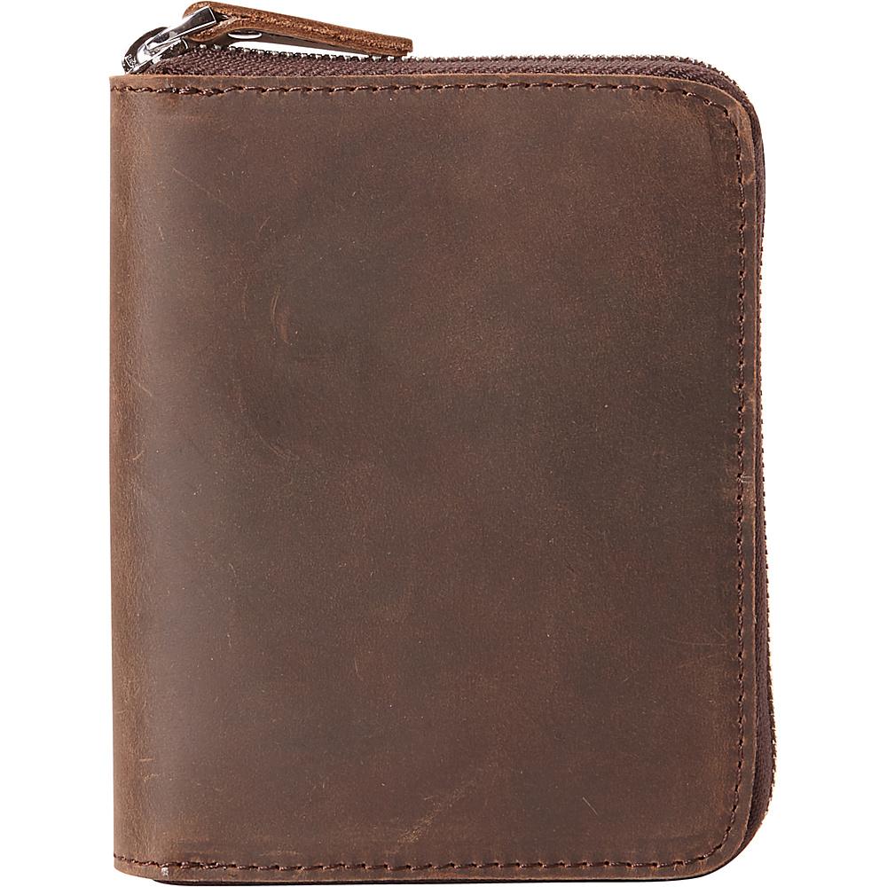 Vagabond Traveler Medium Zipper Wallet Distress - Vagabond Traveler Mens Wallets - Work Bags & Briefcases, Men's Wallets