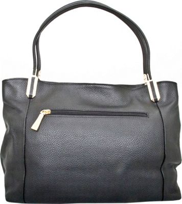 Leatherbay Garda Tote Black - Leatherbay Leather Handbags