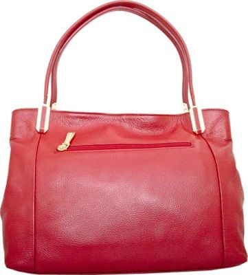 Leatherbay Garda Tote Dark Red - Leatherbay Leather Handbags