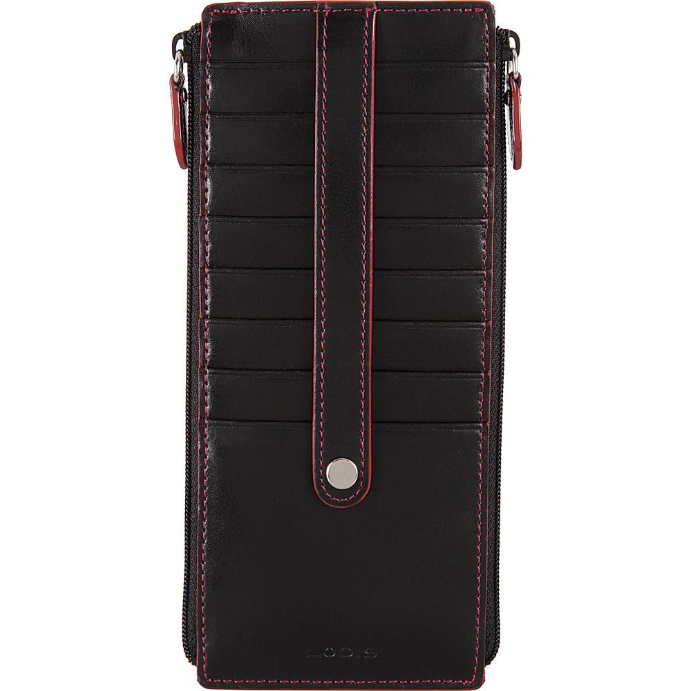 Lodis Audrey RFID Joan Double Zip Card Case Black - Lodis Womens Wallets - Women's SLG, Women's Wallets