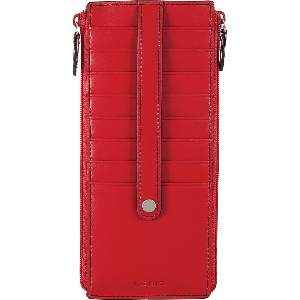 Lodis Audrey RFID Joan Double Zip Card Case Red - Lodis Womens Wallets - Women's SLG, Women's Wallets