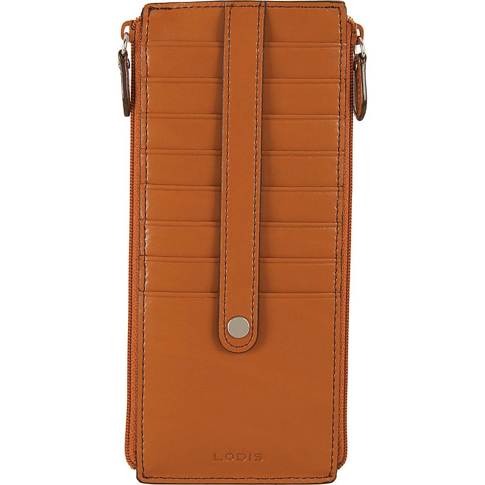 Lodis Audrey RFID Joan Double Zip Card Case Toffee - Lodis Womens Wallets - Women's SLG, Women's Wallets