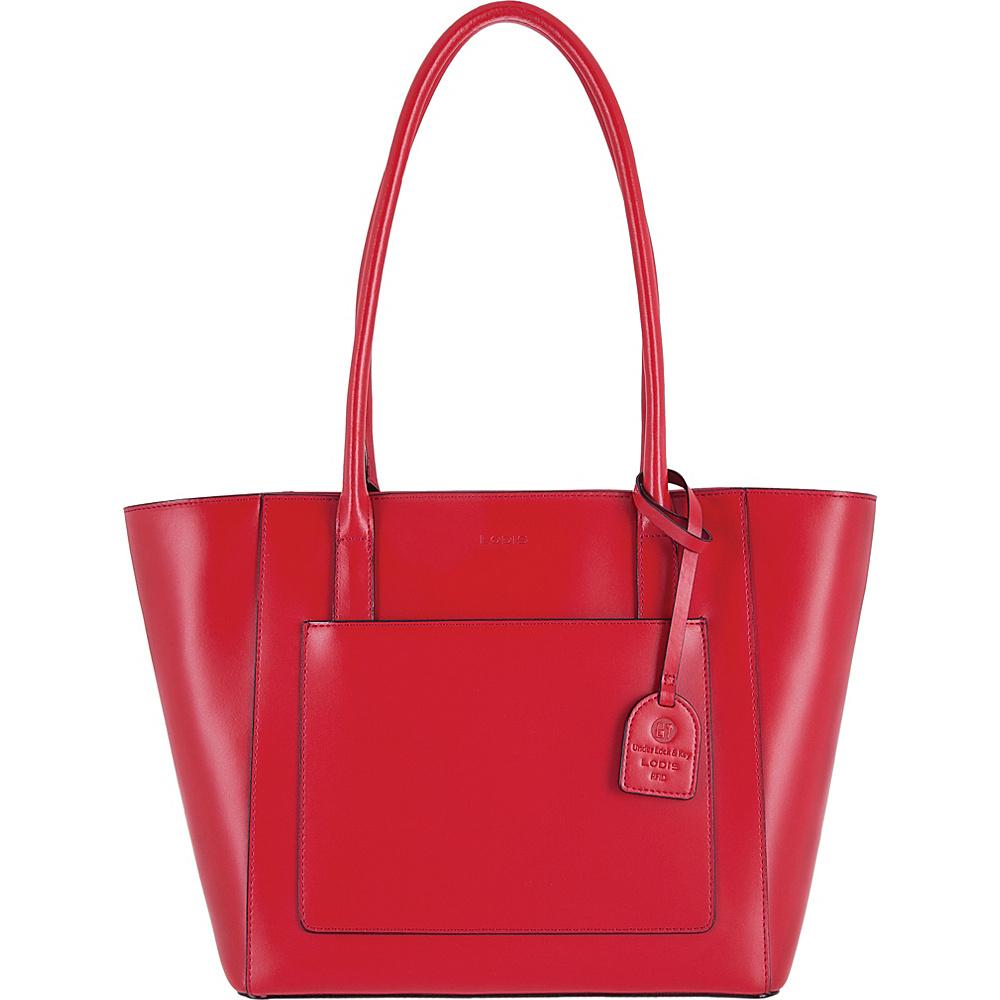 Lodis Audrey RFID Margaret Medium Tote Red - Lodis Leather Handbags - Handbags, Leather Handbags