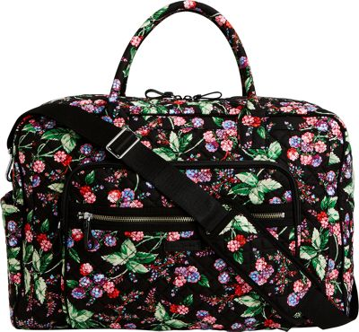 Vera Bradley Iconic Weekender Travel Bag Winter Berry - Vera Bradley Travel Duffels