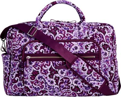 Vera Bradley Iconic Weekender Travel Bag Lilac Paisley - Vera Bradley Travel Duffels