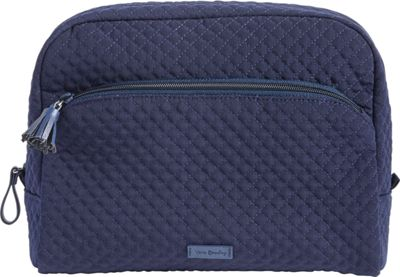 Vera Bradley Iconic Large Cosmetic - Solids Classic Navy - Vera Bradley Women's SLG Other