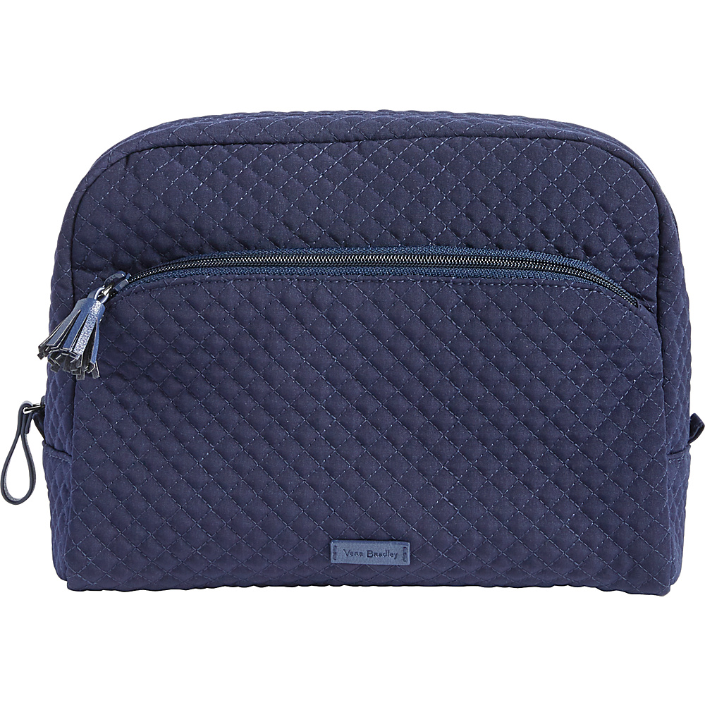 Vera Bradley Iconic Large Cosmetic - Solids Classic Navy - Vera Bradley Womens SLG Other - Women's SLG, Women's SLG Other