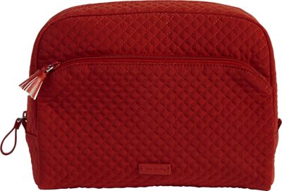 Vera Bradley Iconic Large Cosmetic - Solids Cardinal Red - Vera Bradley Women's SLG Other