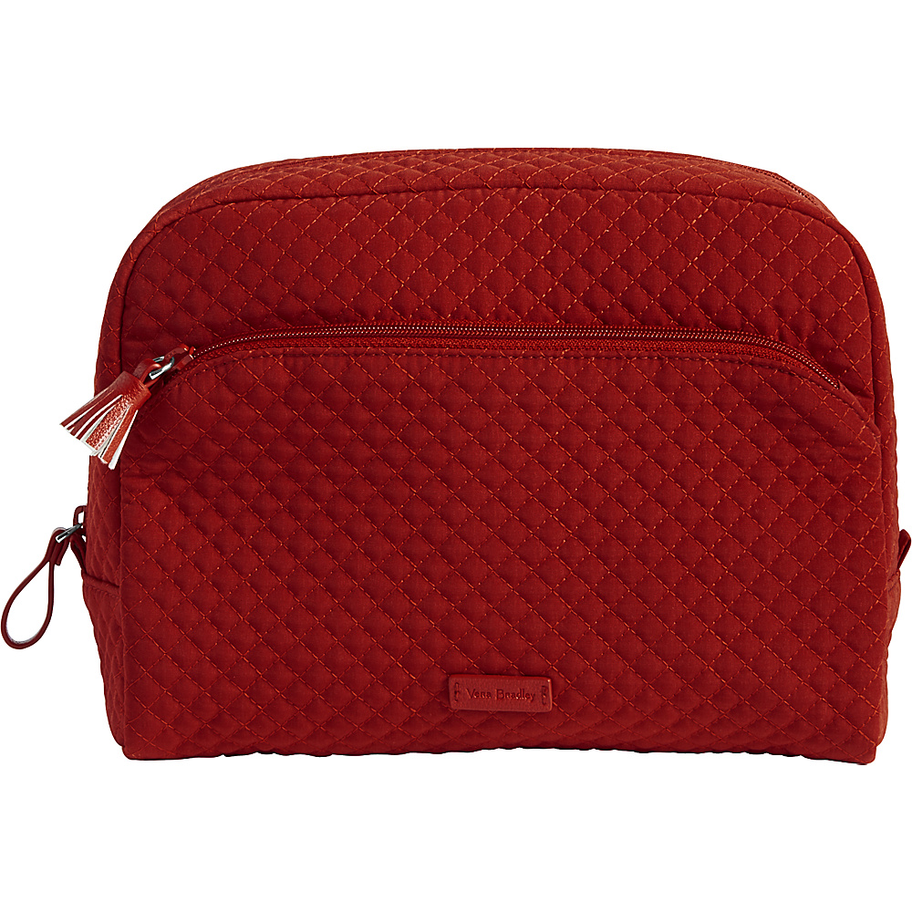Vera Bradley Iconic Large Cosmetic - Solids Cardinal Red - Vera Bradley Womens SLG Other - Women's SLG, Women's SLG Other