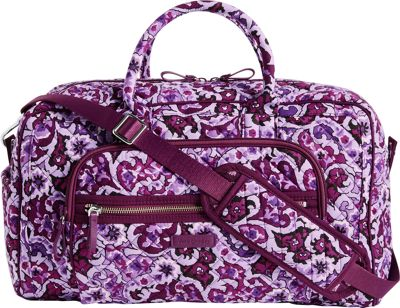 Vera Bradley Iconic Compact Weekender Travel Bag Lilac Paisley - Vera Bradley Travel Duffels