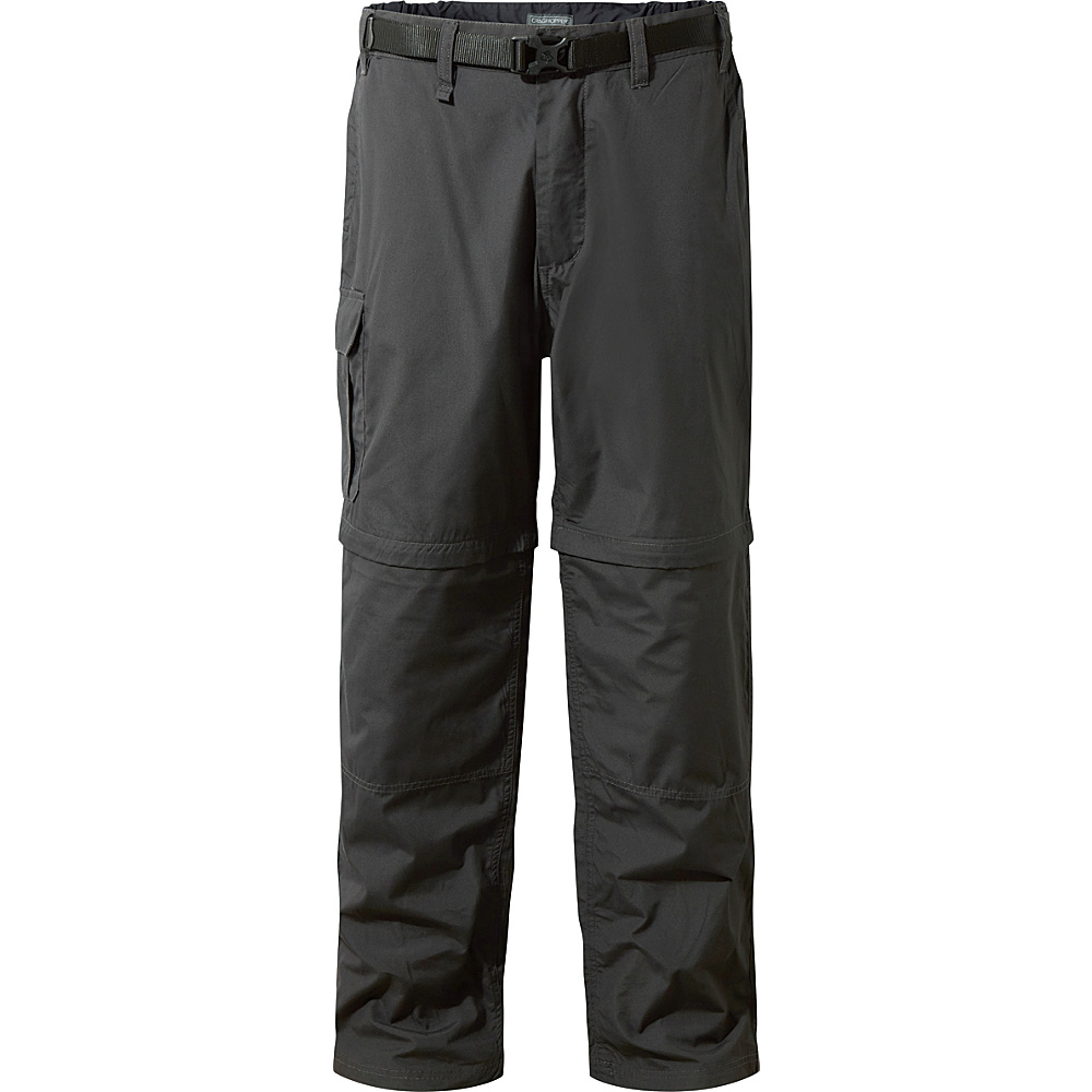 Craghoppers Kiwi Convertible Trousers 30 - Long - Black Pepper - Craghoppers Mens Apparel - Apparel & Footwear, Men's Apparel