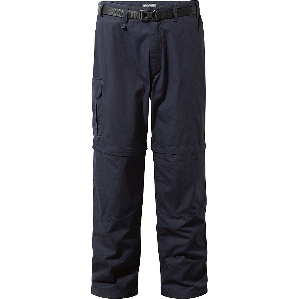 Craghoppers Kiwi Convertible Trousers 36 - Regular - Dark Navy - Craghoppers Mens Apparel - Apparel & Footwear, Men's Apparel