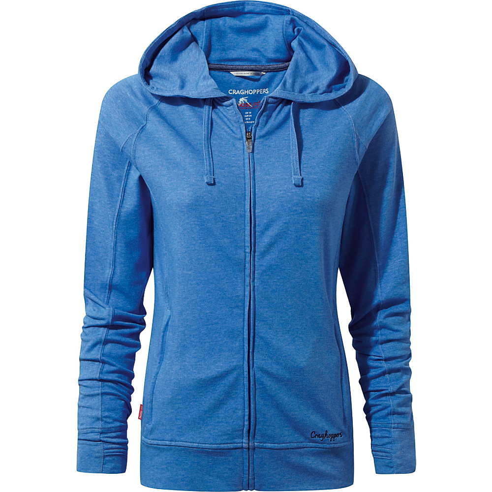 Craghoppers Nat Geo NosiLife Marlin Hooded Jacket 10 - Bluebell - Craghoppers Womens Apparel - Apparel & Footwear, Women's Apparel