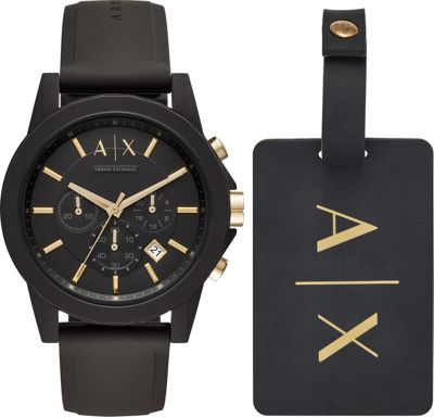 A/X Armani Exchange A/X Armani Exchange Men's Gift Set Black - A/X Armani Exchange Watches