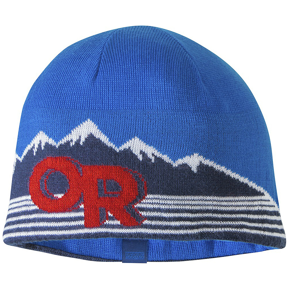 Outdoor Research Mens Advocate Beanie One Size - Glacier/Hot Sauce - Outdoor Research Hats/Gloves/Scarves - Fashion Accessories, Hats/Gloves/Scarves